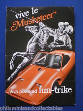 Kit Car - Mumford Musketeer Trike Sales Brochure 1982