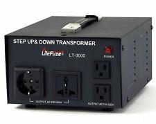 LiteFuze LT-3000 Step Up/Down Voltage Converter Transformer 110/220V 3000W MAX