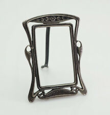 Antique Art Nouveau miniature silver photo picture frame