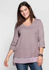 sheego Casual  Longshirt in 2-in-1-Optik. cremerose. NEU!!! KP 34,99 € SALE%%%