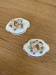 Pair Of Royal Doulton Porcelain Flowers