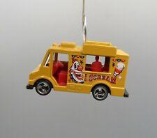 Ice Cream I Scream Truck Yellow Car Custom Christmas Tree Ornament Adorno