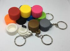 MicroSD / Mini SD Card or Micro SIM Card Holder Keyring - Holds 4 Cards (Qty:1)