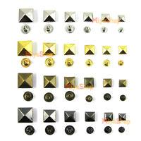 Pyramid Studs Rivet Nailhead Spike Spots Square Leather Craft DIY Rock Punk