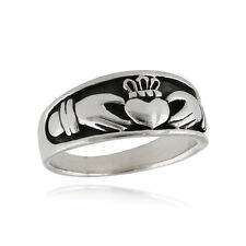 Irish Claddagh Ring - 925 Sterling Silver - Love Loyalty Friendship Unisex NEW