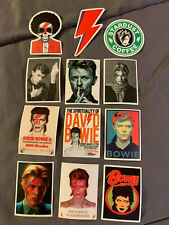 "Lot (12) David Bowie 2"" and 3"" Band Logo Sticker Fast! Free Ship Ziggy Stardust"