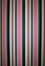 BLACK, WHITE AND PINK MODERN STRIPE WALLPAPER # TS28111