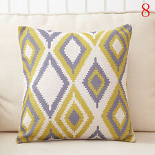 #8 Geometry Linen Pillow Case Throw Cushion Car Sofa Pillow Cover Christmas Gift