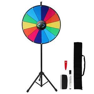 "Voilamart 24"" Prize Wheel 14 Slots Dry Erase Wheel of Fortune Spinning Wheel wit"
