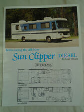 Gulf Sun Clipper Diesel Motor Home brochure Jan 1992 German text