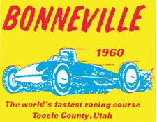 Bonneville Salt Flats '60 Sticker Decal Adhesive on Back