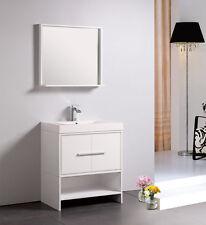 "Dowell 30"" 007 30 01 Modern Single Sink Bathroom Vanity White Color"