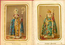 Venice Small folded album Armenian church Costumes Colored CDVphotos 1870c S1200