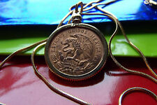 "1959 Eagle Coin Mexico Gold Filled Bezel Pendant on 24"" Gold Filled Snake Chain"