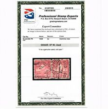 EXCEPTIONAL GENUINE SCOTT #656 USED COIL PAIR PSE CERT GRADED XF-90 FANCY CANCEL