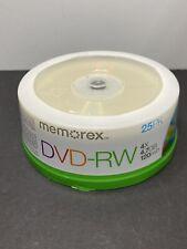 Memorex DVD-RW 25-pack - 4X / 4.7GB / 120min Rewritable Discs - NEW sealed pkg