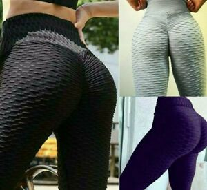 Women Leggings Gym Yoga Anti-Cellulite Fitness Solid Elastic Tight High Waist