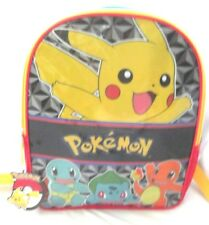 "Pokemon Pikachu Multi Characters 16"" Backpack with a main zipper compartment-New"