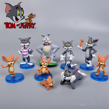 9 Pcs Lot Tom and Jerry Cartoon Action Figure Doll Toy Gifts Cute Interesting