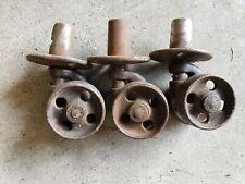 3 Antique Vintage Industrial Metal Wheels Casters