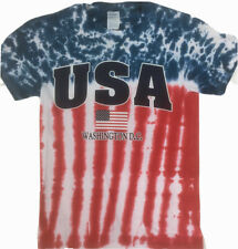 New listing Usa shirt American Flag Tye Dye Hippy Boho Crew Neck Short Sleeve Colorful tee S