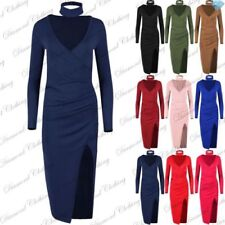 Midi Wrap Dresses for Women with Ruched