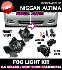 for NISSAN ALTIMA 10 11 12 Fog Light Driving Lamp Kit w/ switch wiring (CLEAR)
