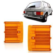 VW Brasilia Variant Corner Rear Tail Light Lens Lenses 2pcs Amber Orange