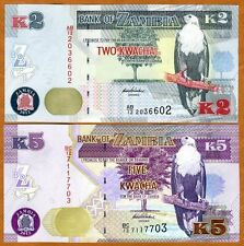 SET, Zambia, 2;5 Kwacha, 2012 (2013), P-New, UNC > New Revalued Currency