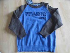 JEEP schöner BW Pullover mit Druck Gr. 116  NEU