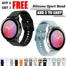 For Samsung Galaxy Watch Active 2 44mm 3 41mm Band Silicone Sport Bracelet Strap