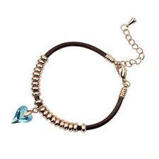 Crystal Leather Rose Gold Plated Fashion Bracelets