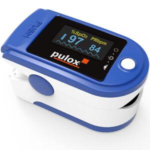 Finger-Pulsoximeter PULOX PO-200 blau Set mit Aufbewahrungsbox