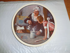 "1982 Norman Rockwell - ""The Cooking Lesson"" Collectible Plate - Mother's Day"