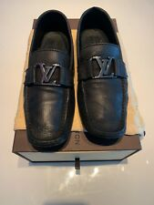 Louis Vuitton Mens Monte Carlo Black Loafers Shoes Size 9.5