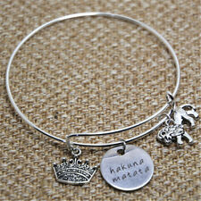 LK inspired bracelet with lion crown and hakuna matata charm