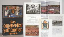 DESTOUCHES Das Münchener Oktoberfest 1810-1910 SELTEN Brauchtum Feste München