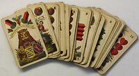 Superfeine Schwerdter Skatkarten um 1945 Gesellschaftsspiel Antikspielzeug sf