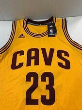 Lebron James #23 NBA  Adidas Cavs  Swingman  Jersey Gold, Burgundy Size Small