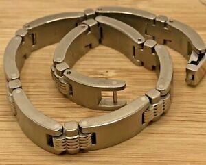 """SHR Stainless Steel 8.5"""" Long Bracelet"""