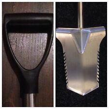 Metal Detecting Evolution ProCut Plastic D  handle Spade Stainless Steel Digging
