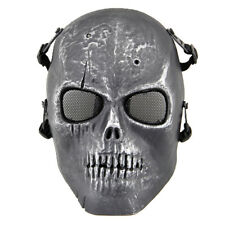 Silver Black Plastics Skull Face Protect Mask Environmental Protection