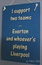 Everton versus Liverpool EPL English Football Soccer Wooden Wall Bar Pub Sign