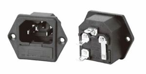 2 IEC Mains Connector Push-Fit Chassis Inlet 181