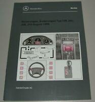 Werkstatthandbuch Mercedes Neuerungen Änderungen R 129 SL 202 208 210 Buch 1999