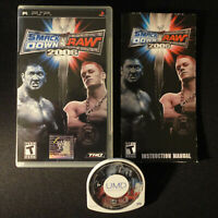 WWE SmackDown vs. Raw 2006 (Sony PSP Portable) Case Manual Disc Black Label CIB