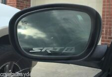 SRT8 Dodge Crysler Jeep Frosted Glass Mirror Vinyl Decal Set of TWO 17-35