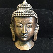 Bronze Buddha Mask Statue Figure