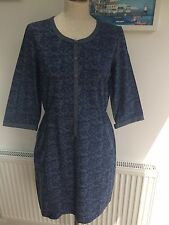 Seasalt Cornish Clay Dress in Cottage Flowers Indigo - UK10 EU38 - Sales Sample