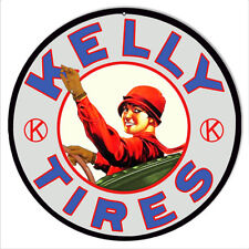 Kelly Tires Garage Shop Reproduction Sign 14 Round